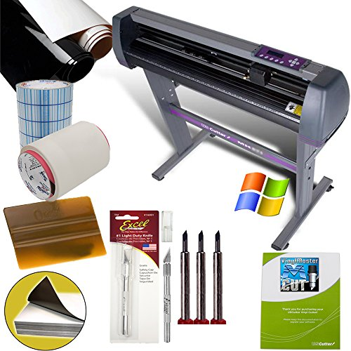 28-inch Vinyl Cutter Value Sign Making Bundle with Design and Cut Software - Cutting Signs, Stickers (Vinyl Sticker Cutter compare prices)