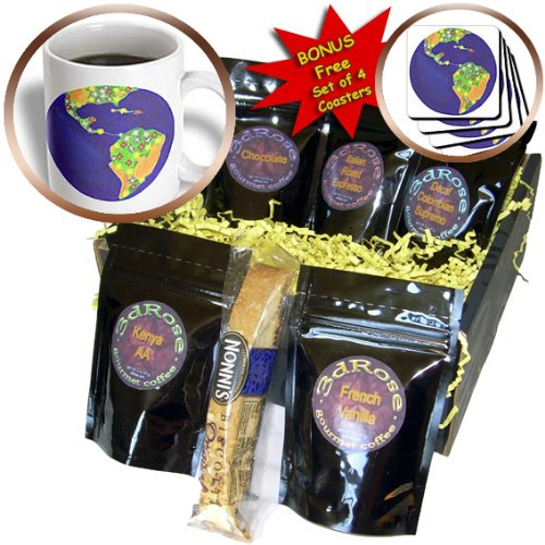 cgb_12693_1 CherylsArt Planet Earth World – Planet Earth Bouquet – Coffee Gift Baskets – Coffee Gift Basket