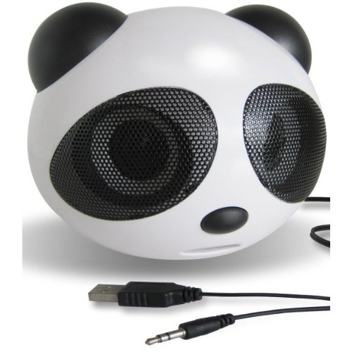 Panda Bear Shaped High-Powered Portable Laptop Notebook Netbook Speaker System