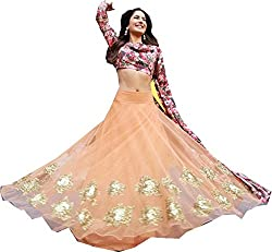 Royal Fashion ORANGE DESIGNER LEHENGS CHOLI MATERIAL.