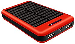 COOLNUT Solar Power Bank,High Capacity Solar Panel Power Bank for Mobile like Samsung,Apple iPhone,HTC,Intex,Oppo - 13000mAh