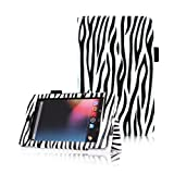 FINTIE (Zebra) Leather Folio Stand Case Cover (With Automatic Sleep/Wake Feature) for Google Asus Nexus 7 Inch Android Tablet