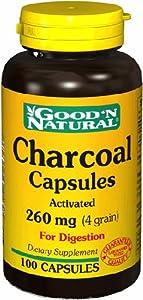 Natural Charcoal 260mg - 100 caps,(Good'n Natural) from Good N Natural :MFGR
