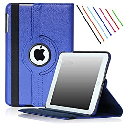 Apple iPad Mini Case / iPad Mini 2 case / iPad mini 3 Case - Thilon, 360 Degree Rotating Stand PU Leather Case Cover with Stand, Auto Sleep / Wake for iPad mini 1, 2, 3 case (Royal Blue)