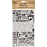 Life Quotes Remnant Rubs by Tim Holtz Idea-ology, 5 x 7 Inch, 2 Sheets, Black/White, TH93120