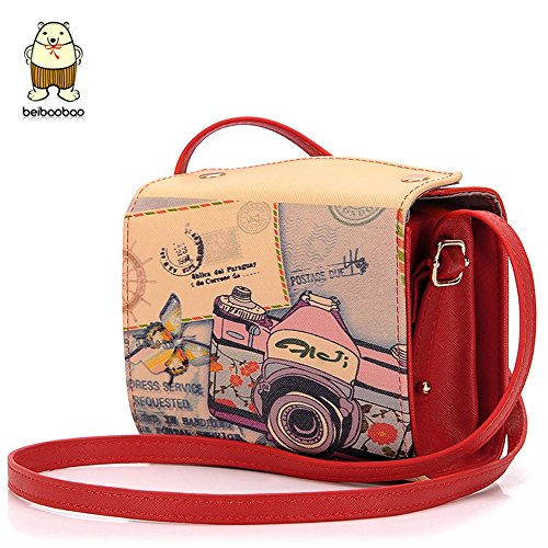2015 New Cool Lovely Mini Camera Shoulder Bags Handbags For Girls (Red)
