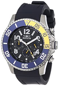 Invicta Men's 13728 Pro Diver Chronograph Carbon Fiber Dial Dark Blue Polyurethane Watch