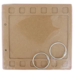 Tootpado Filmstrip Style Chipboard Mini Album Scrapbook Brown DIY Art & Craft Activites