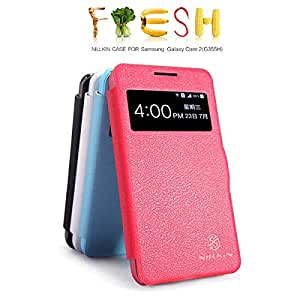 Nillkin Ultra-thin PU Leather Flip-up Phone Case Protective Cover Case for Samsung Galaxy G355H/Galaxy Core 2 - 4 Colors