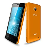 MTECH ACE-2 ORANGE 3G 32GB DUAL CAMERA 4 INCH DISPLAY SMART PHONE WITH FREE FLIP AND BACK COVER