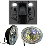 #10: Vheelocityin 55W Oval (set of 2) Auxillary Lamps FogLamp Halogen Light for ALL Car and Bikes