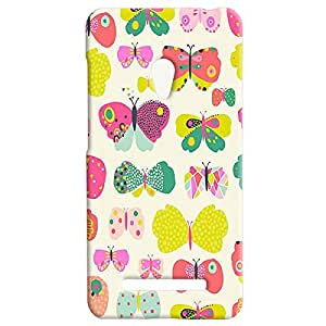Theskinmantra Butterflies Back Cover for Asus Zenfone 5
