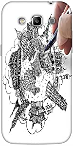 Snoogg hand drawing the dream travel around the world Hard Back Case Cover Shield For Samsung Galaxy Grand Quattro Win I8550