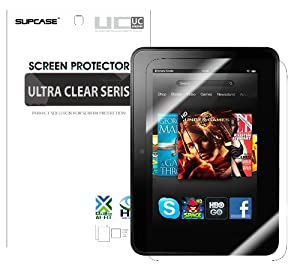 Supcase 2 Pack Ultra Clear Screen Protector for Kindle Fire HD 7 inch Tablet (Not Fit Kindle Fire HD 8.9 inch Tablet)