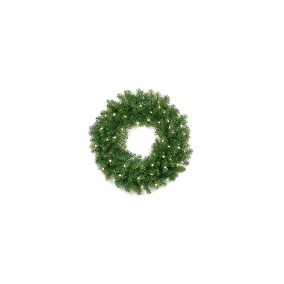 National Tree Company AP7 300 30W 30 Inch Aspen Spruce Wreath with 50