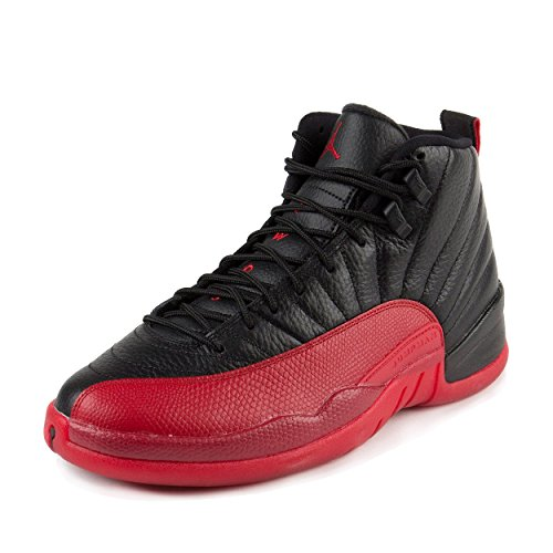 Nike-Mens-Air-Jordan-12-Retro-Flu-Games-BlackVaristy-Red-Leather