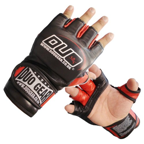 M BLACK MMA MUAY THAI GRAPPLING TRAINING FIGHT GLOVES
