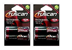 Tuscan 2 Packs of 4 pieces 1600mah AA 1.2V, Rechargeable Ni-Mh Batteries 1600 mAh AA Size
