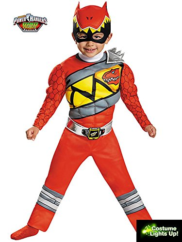 Red Ranger Dino Charge Light Up Motion Activated Costume for Kids