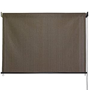Baja Exterior Roll up Solar Shade, 8-Feet by 6-Feet, Cabo Sand