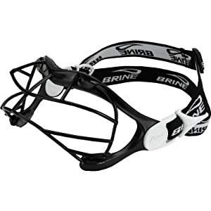 Brine Lux Lacrosse Goggle with Black SS Face Mask (One Size, Silver) by Brine