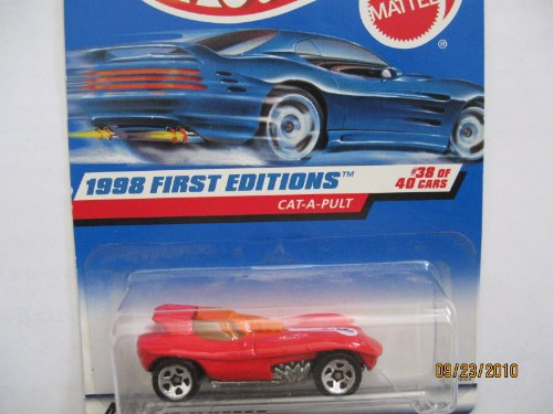 Hot Wheels Cat-a-pult 1998 First Editions #38 5 Spoke/red Logo - 1