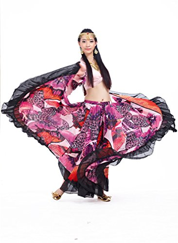 Dreamspell Gypsy Big Skirt Professional Dancing Skirt Pink Best Stage