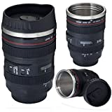 Thermo Lens Mug - Stainless Steel Insulated, For Coffee and Refreshments, (Modeling 24-105mm Lens), 11oz