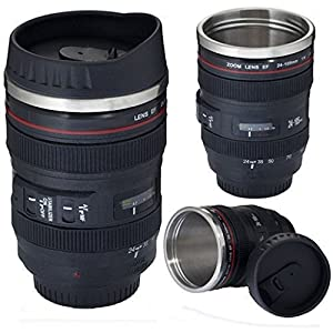 Thermo Lens Mug - Stainless Steel Insulated, For Coffee and Refreshments, (Modeling 24-70mm F2.8G Lens), 16oz?