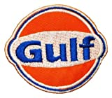 Gulf Oil Racing Race Cars Jecket Logo Embroidered Embroidered Iron or Sew on Patch by Wonder Fullmoon