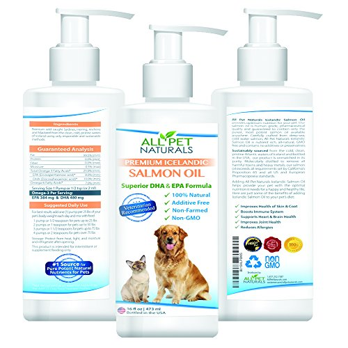 All Pet Naturals Premium Salmon Oil - 16 oz with pump (All Natural Pet Food compare prices)