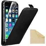 """EasyAcc® iPhone 6 4.7"""" Flip Cover Case Custodia Pelle accessori Protective cover per iPhone 6 4.7 Zoll in vera pelle genuin,Nero"""