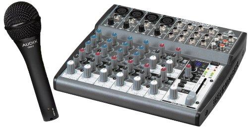 Behringer Xenyx 1202Fx Premium 12-Input 2-Bus Mixer With Audix Om2 Vocal Microphone Bundle,