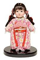 【市松人形】6号 木目込チリメン衣装市松:京華作【木目込市松人形】【浮世人形】