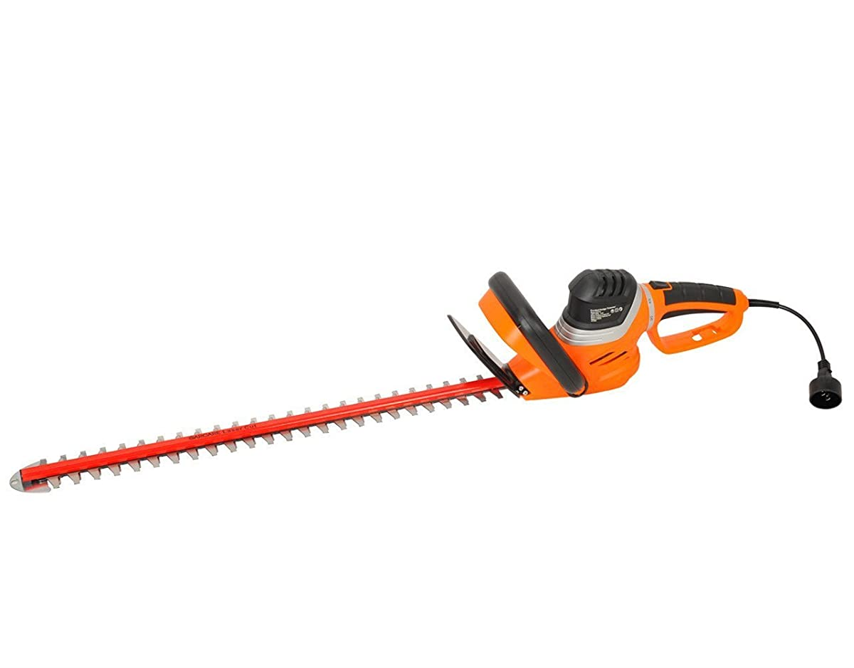 """GARCARE 4.8-Amp Corded Hedge Trimmer with Rotating Handle and 24"""" Dual Cutting Laser Blade, Blade Cover Included"""