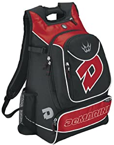 DeMarini Vexxum Backpack, Black/Scarlet