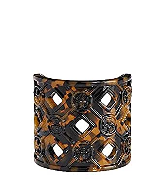 Tory burch perforated resin logo cuff bracelet for Tory burch jewelry amazon