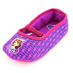 Sofia the First Toddler Girls Mary Jane Slippers (S (5/6) M US Toddler)