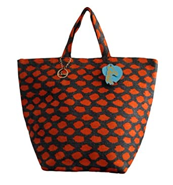 Large Woven Beach Tote Bag from Sarit (ORANGE)