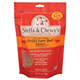 Stella and Chewy's Freeze Dried Dog Food for Adult Dogs, Beef Patties, 6-Ounce Bag