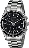 Hamilton Men's H37512131 Jazzmaster Seaview Black Chronograph Dial Watch