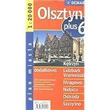 Poland City Map Olsztyn + 6 Other Cities: Ketrzyn, Nidzica, Lidzbark Warminski, Ostroda, Mragowo, Szczytno