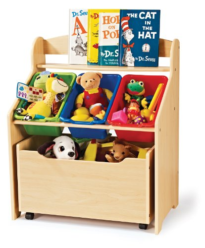 Tot Tutors TB816 Store-All Unit, Natural Finish