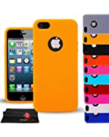 Madcase iPhone 5s / 5 Ring Series Soft Silicone Gel Fitted Case flexible cover - Mustard Yellow
