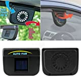 Alicenter(TM) Vehicle Solar Powered Car Vent Window Fan For Car Auto Ventilator Air Cooling