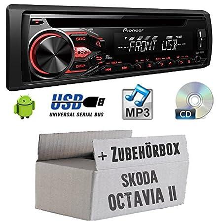 Skoda Octavia 2 1Z - Pioneer DEH-1800UB - CD/MP3/USB Autoradio - Einbauset