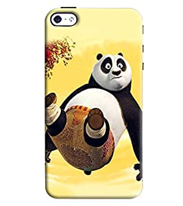 Clarks Panda Inspired Hard Plastic Printed Back Cover/Case For Apple iPhone 4/4S