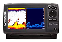 Lowrance 000-10961-001  Elite-7X Fishfinder with 83/200-455/800 KHz Transom Mount Transducer