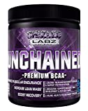 Best BCAA Supplement, UNCHAINED - Premium Branch Chained Amino Acids for Serious Athletes & Trainers. Delicious Pre Post & Intra Workout Drink Assist in Fat Loss Lean Mass & Recovery.(Blue Razz)
