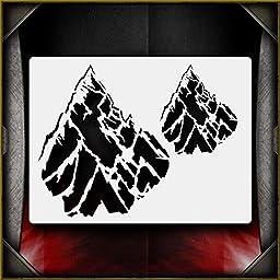 Mountains 1 AirSick Airbrush Stencil Template